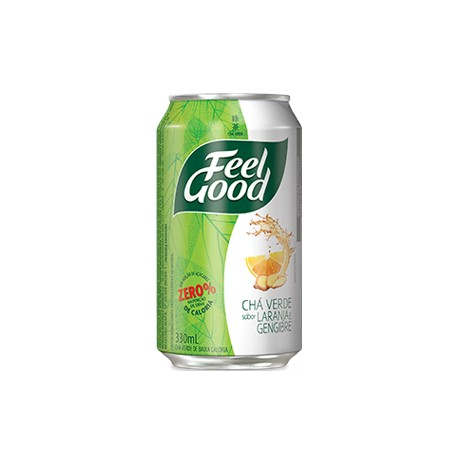 Feel Good Chá Verde com Laranja e Gengibre Lata 330ml