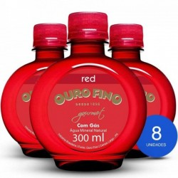 Água Mineral Ouro Fino Gourmet Red Com Gás 300ml