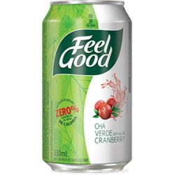 Feel Good Chá Verde com Cranberry Lata 330ml